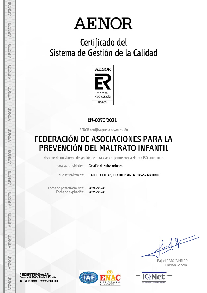 Certificado del sistema de gestión de calidad